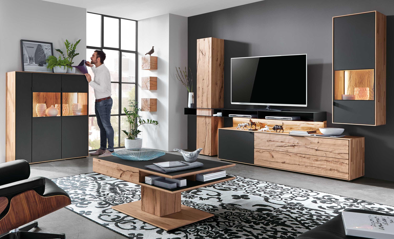 hartmann talis wohnwand massiv buche individuell. Black Bedroom Furniture Sets. Home Design Ideas