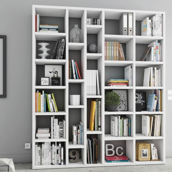 Toro Bücherregal extrem belastbar weiß Lack matt