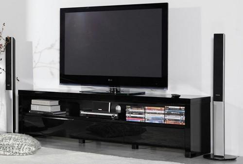 TV Lowboard weiß Hochglanz mit 3 Schubladen Breite 190 cm