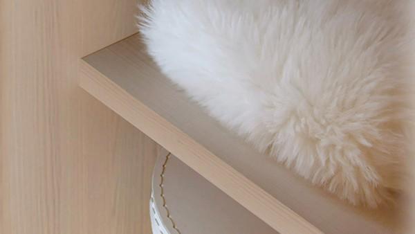Staud 2er Set Einlegeböden Kleiderschrank weißbuche o. texline
