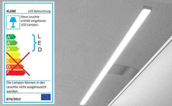 LED Möbel Beleuchtung Switch mit Farbwechsel alufarbig