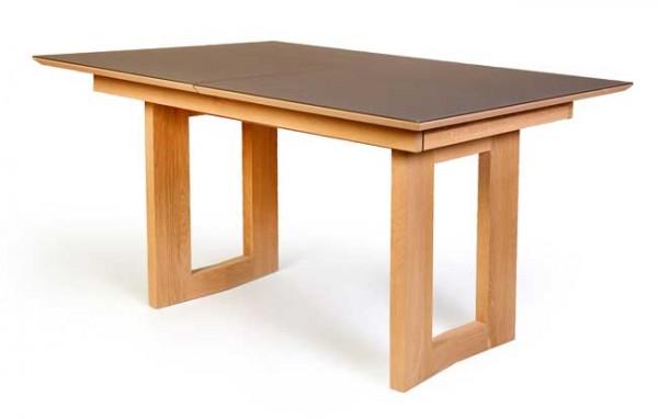 Standard Furniture Komforto Holztisch mit Glasplatte in vielen Farbkombinationen