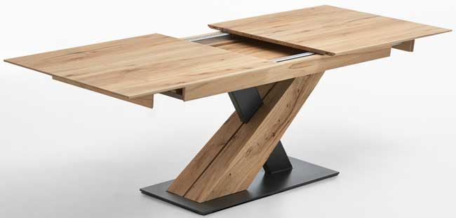 Hartmann talis massivholz s ulentisch ausziehbar riffbuche for Massivholztisch ausziehbar