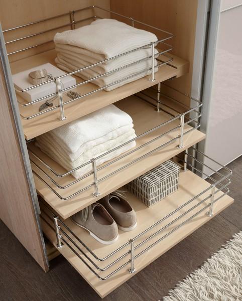 Staud ausziehbarer Wäschekorb für Kleiderschränke