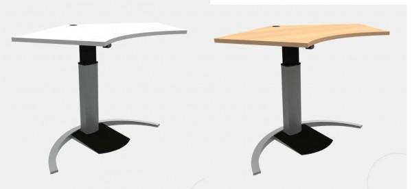 ConSet Schreibtisch Trapez höhenverstellbar Steh / Sitz