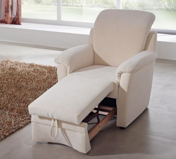 Dietsch Florenz Sessel mit Hocker ausziehbar variabel