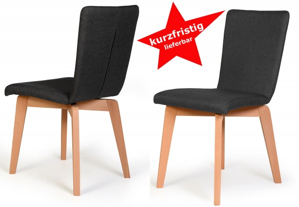 Standard Furniture Manon 2er Set Polsterstühle anthrazit kurzfristig