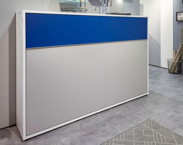 Loop Schrankklappbett quer 90x200 cm / 120x200 cm viele Farben