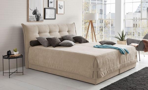 Hapo Leona Polsterbett 200x200 cm mit Bettkasten viele Farben