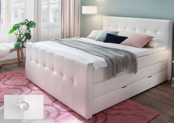 Meise Star Boxspringbett mit Bettkasten Swarovski Steine optional