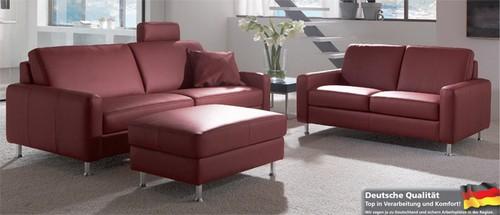 Dietsch Paolo Nero Davina 3 Sitzer Sofa Leder wählbar
