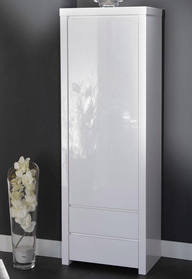 Kleiderschrank weiß hochglanz  Extreme Gloss Schrank mit Schubladen Hochglanz weiß | Möbelmeile24