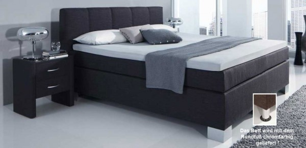 hapo boston boxspringbett 140x200 cm schwarz kurzfristig. Black Bedroom Furniture Sets. Home Design Ideas