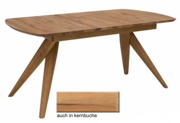 Anor Massivholztisch eiche rustikal oder kernbuche ausziehbar