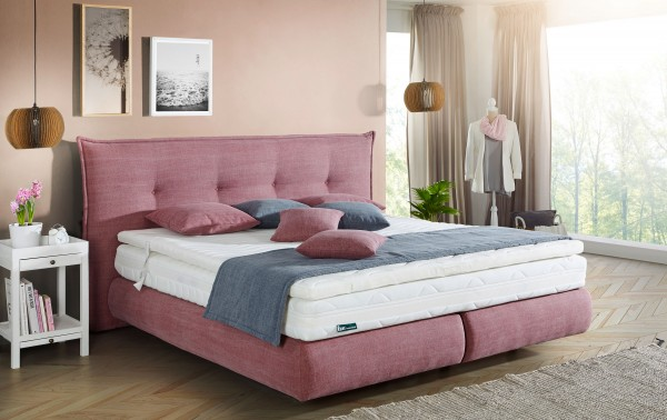 Frankenstolz Cannes KT302 Boxspringbett 180x200 cm viele Farben individuell