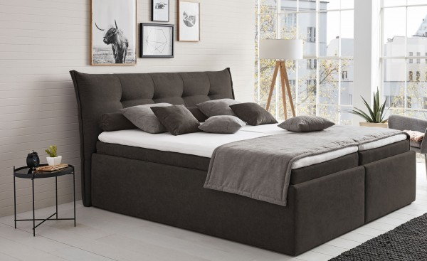 hapo leona polsterbett 100x200 cm mit bettkasten viele farben m belmeile24. Black Bedroom Furniture Sets. Home Design Ideas