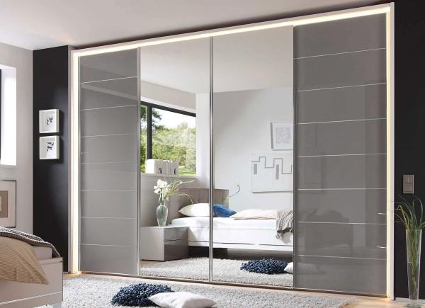 Staud Sonate Como Panoramaschrank mit Spiegel viele Farben Breite 400 cm