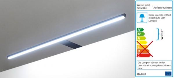 LED Möbel Aufbauleuchten Darkline schwarz
