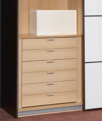 Staud 6er Set Schubladen für Kleiderschrank weißbuche o. texline