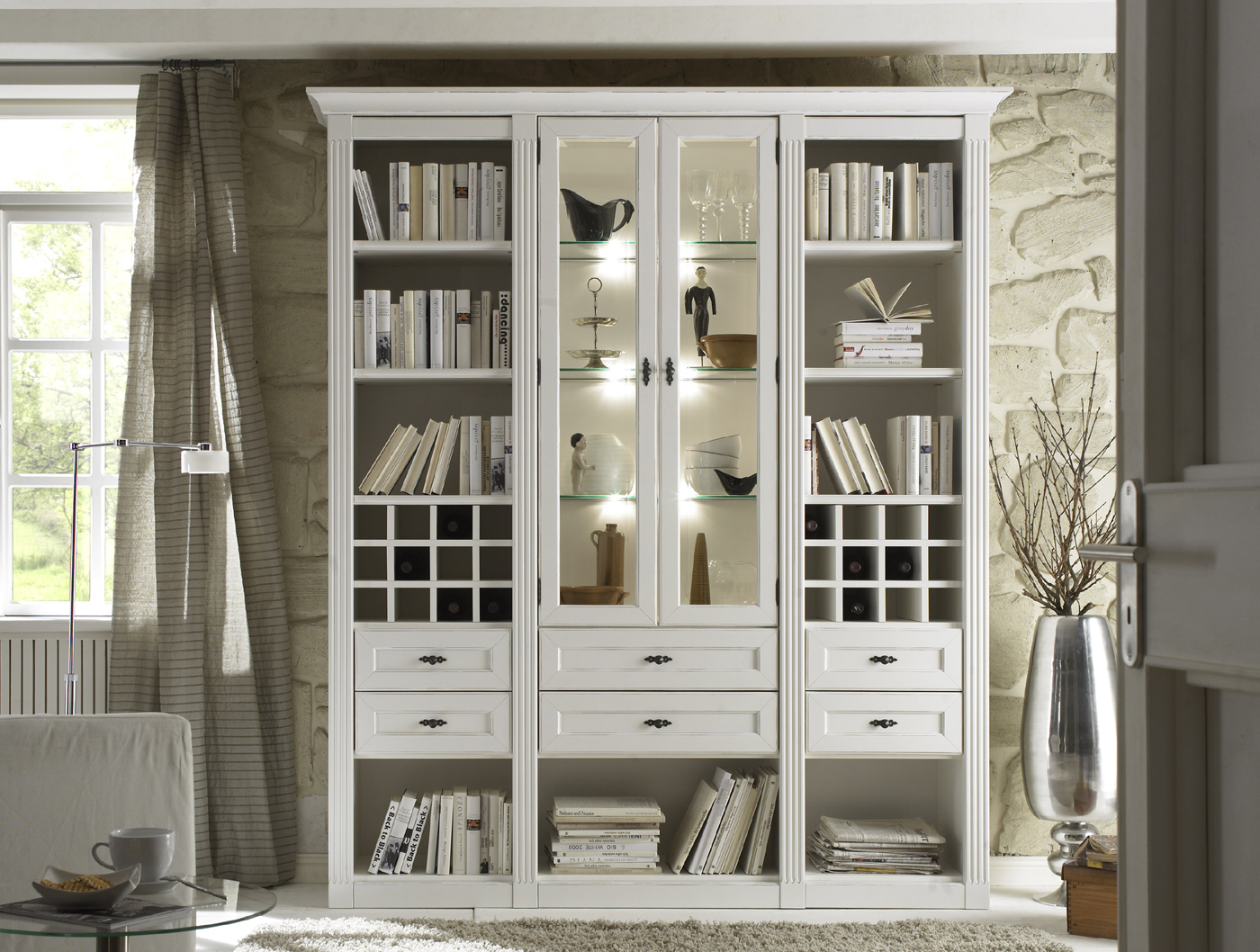 wohnwand b cherregal maison individuell planbar m belmeile24. Black Bedroom Furniture Sets. Home Design Ideas