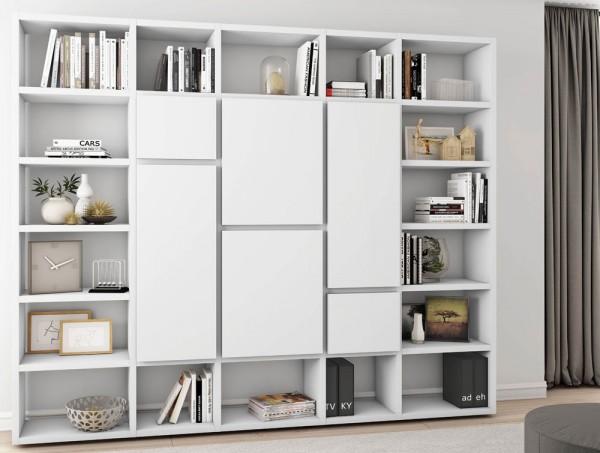 Toro Bücherregal Mit Türen Weiß Lack
