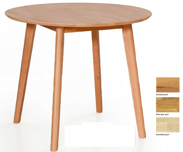 Standard Furniture Thomas kleiner Massivholztisch rund oder quadratisch