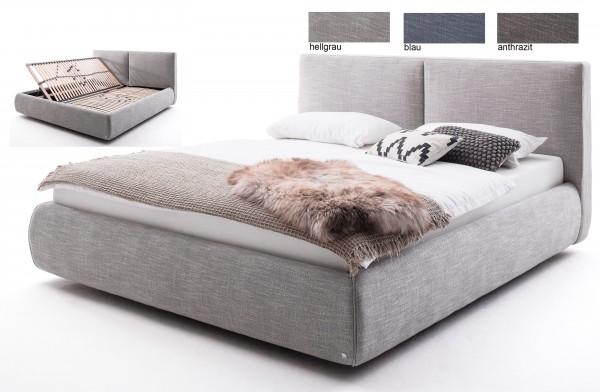 Meise Atesio Polsterbett mit Bettkasten 180x200 cm in 3 Farben