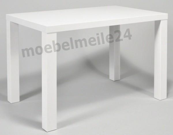 Esstisch weiß Hochglanz 120x75 cm