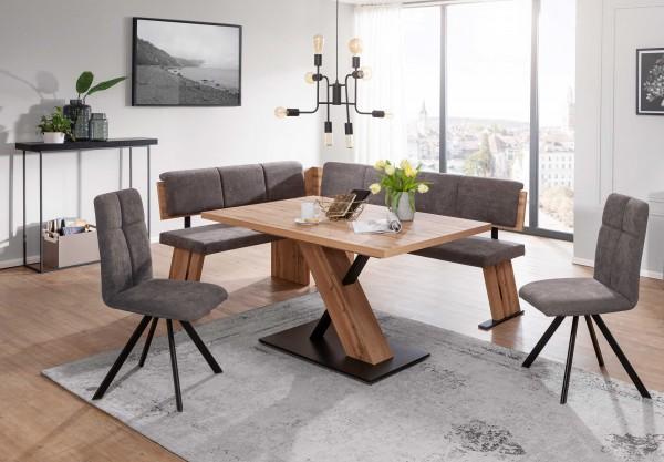 Schösswender Kota moderne Eckbankgruppe eiche mit Tisch fest
