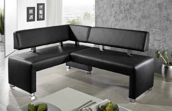moderne leder eckbankgruppe in verschieden gr en m belmeile24. Black Bedroom Furniture Sets. Home Design Ideas