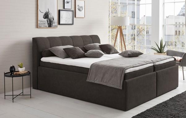 Hapo Leona Polsterbett 140x200 cm mit Bettkasten viele Farben