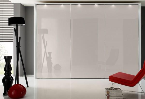 Staud Sonate Rom Schwebetürenschrank Glas versch. Farben Breite 167 cm