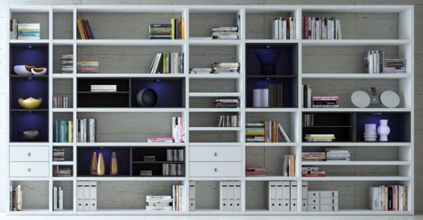 Toro Bücherregale nach Maß weiß Hochglanz u. mehr