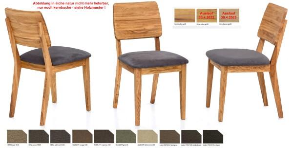 Standard Furniture Norman Polsterstuhl eiche oder kernbuche