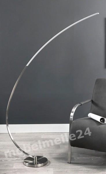 moderne LED Bogenlampe Edelstahl / Alu