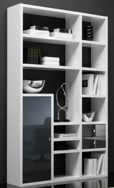 Toro schmales Bücherregal mit Türen und Schubladen individuell planen