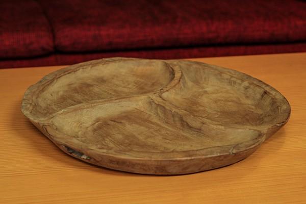 Teak Schale aus Holz dreigeteilt
