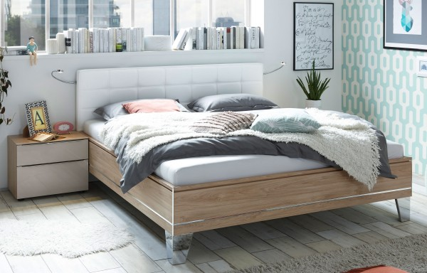 staud sonate bett komforth he mit polsterkopfteil viele. Black Bedroom Furniture Sets. Home Design Ideas