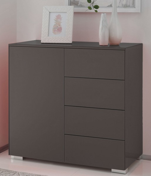 staud premium kommode mit t r und schubladen glas viele farben m belmeile24. Black Bedroom Furniture Sets. Home Design Ideas