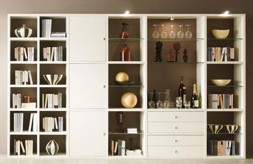 Toro Moderne Wohnwand Weiß Lack Nach Maß Planen