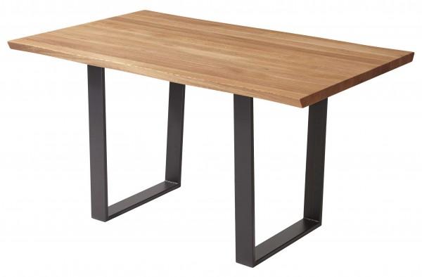 Schösswender Oviedo massiver Holztisch mit Baumkante wildeiche