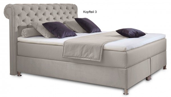 Hapo Diamond Polsterbett mit Bettkasten 180x200 cm variabel