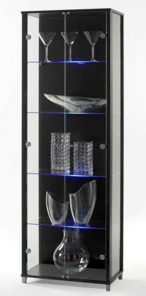 Sammelvitrine abschließbar mit LED Glasbodenbeleuchtung weiß oder schwarz