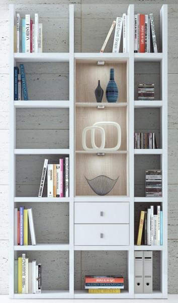 toro schmales b cherregal wei nach ma planen m belmeile24. Black Bedroom Furniture Sets. Home Design Ideas