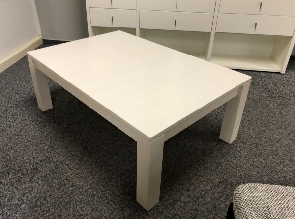 Dico Massivholz Couchtisch 120x80 cm weiß lackiert II. Wahl
