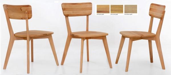 Standard Furniture Noci Holzstuhl eiche oder kernbuche