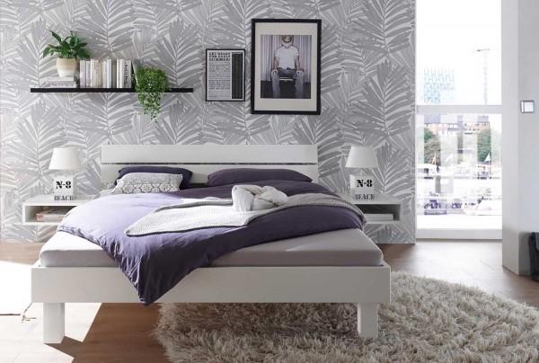 Hasena Prato Massivholzbett kernbuche weiß lackiert 180x200 cm kurzfristig