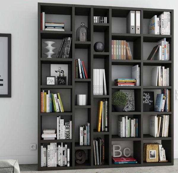 Toro Bücherregal extrem belastbar eiche schwarzbraun