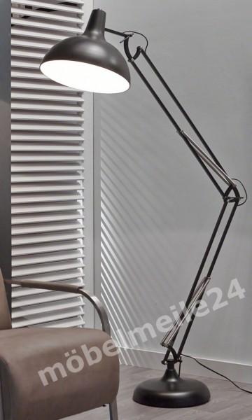 Stehlampe verstellbar schwarz