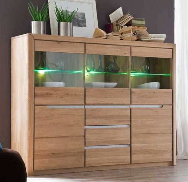 Quadrato Florenz Highboard wildeiche massiv